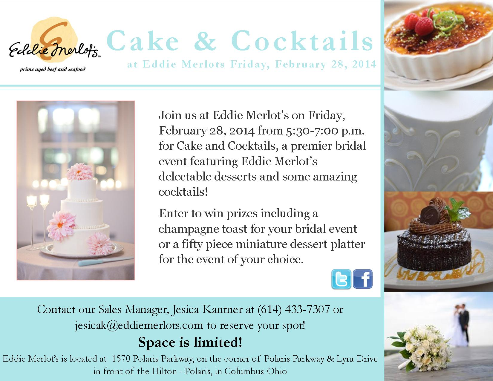 Cake and Cocktails Flyer