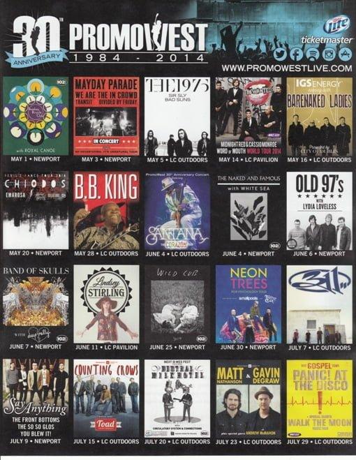 Upcoming Columbus Concerts 2014