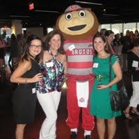 Jodi, Rosie and Mary with Brutus Buckeye 2