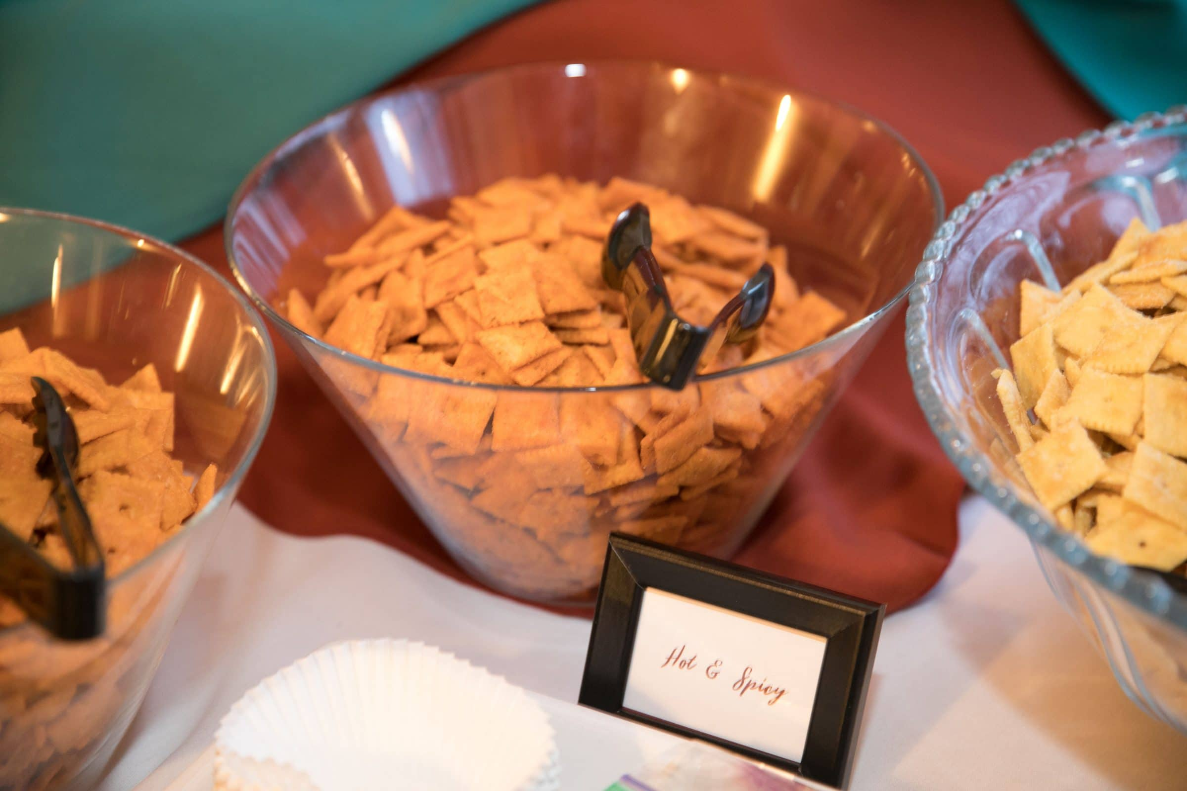 Cheeze-it's at Columbus wedding reception