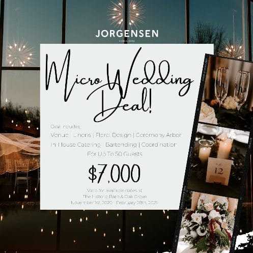 Jorgensen Farms Micro Wedding Special 2020-2021